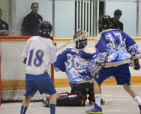 box lacrosse swing and shoot pregame warm up practice drill